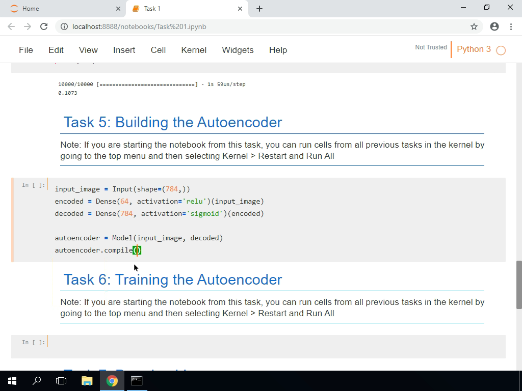Building the Autoencoder