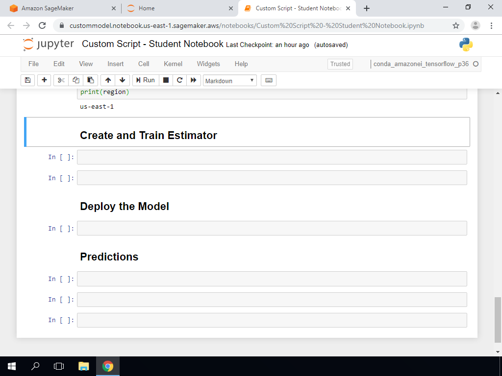 Create and Train Estimator